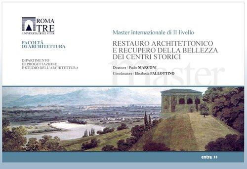 Master in Restauro Architettonico Università Roma Tre