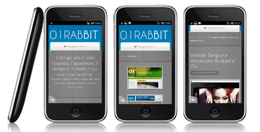 01Rabbit sito Mobile