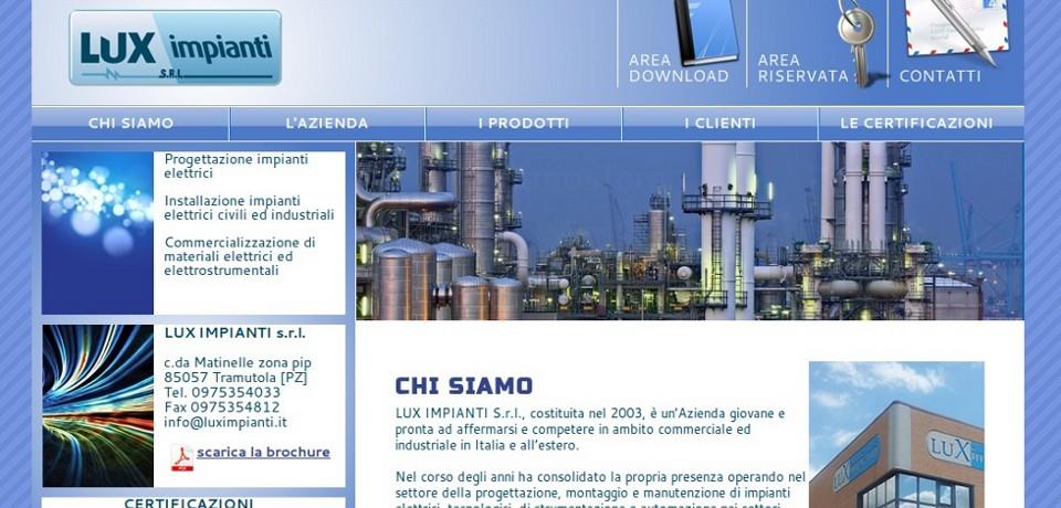 Lux impianti srl 01rabbit for Sito web di progettazione della casa