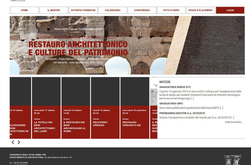 Master in Restauro Architettonico