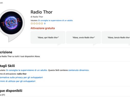 Amazon Alexa Skill – Radio Thor